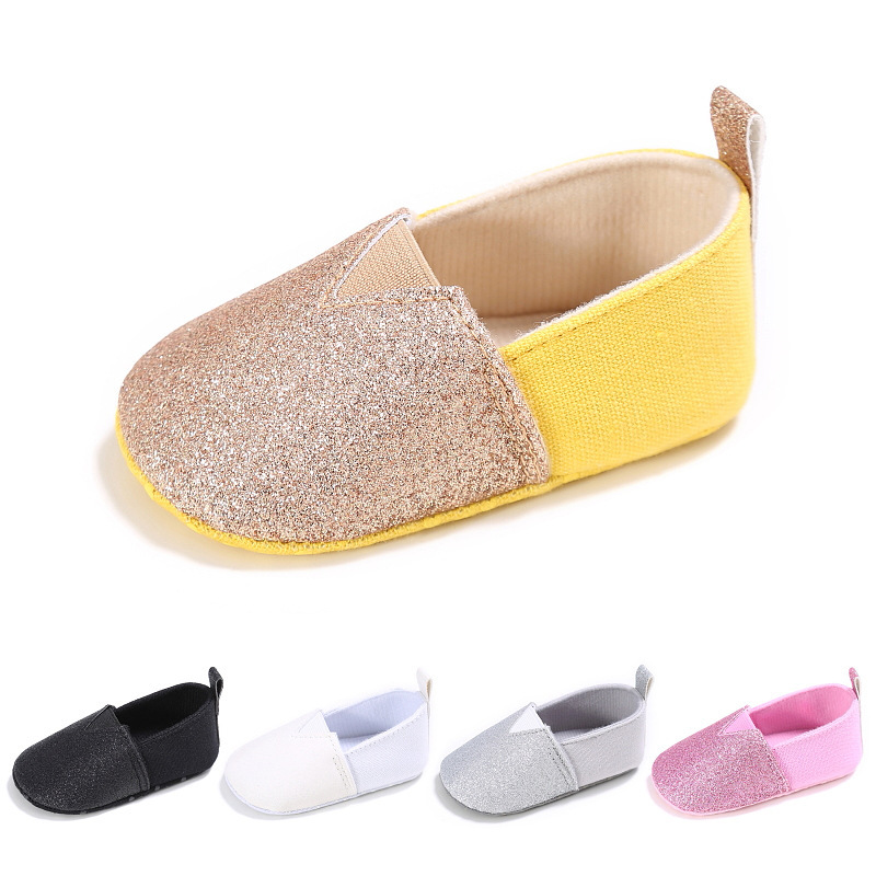 Baby Toddler Shoes Newborn Infants Soft Sequins Casual Shoes Boys Loafers Girls Moccasins Shoes