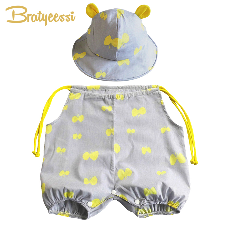New Print Cotton Baby Rompers Summer Infant Girls Boys Jumpsuit Newborn Baby Clothes Set Gray/White baby rompers boys girl set long sleeve one piece jumpsuit newborn winter cotton bow tie boys girls jumpsuit for infant clothes