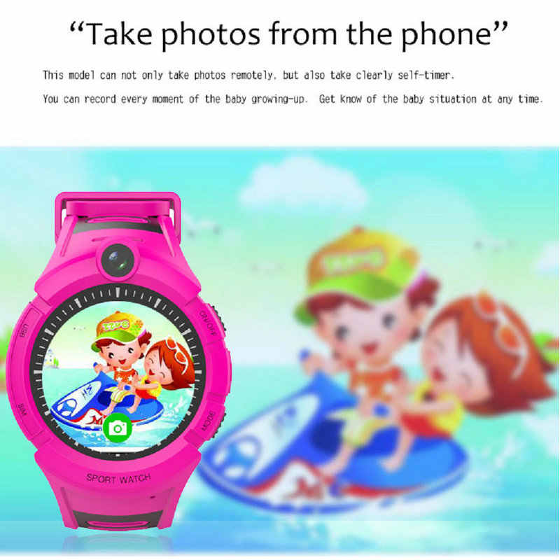GEJIAN Children's Watch With Camera GPS WIFI Position Children's Watch SOS Anti-Lost LBS Monitoring Positioning Tracker Bracelet