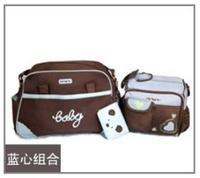 2PCS/Set(big and small bag) Tote Baby Shoulder Diaper Bags 4 Colors Durable Nappy Bag Mummy Mother Baby Bag