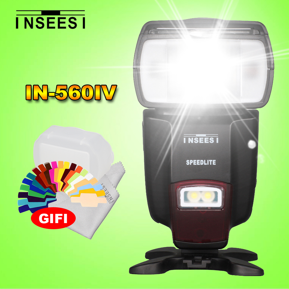 Prix pour INSEESI IN560IV Sans Fil Universel LED IN-560IV Flash Speedlite Pour Nikon Canon Sony Olympus Pentax Panasonic DSLR Caméras
