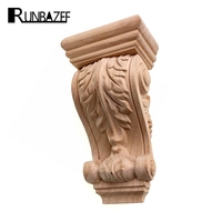 RUNBAZEF Rome Wood Wardrobe Decorative Corbel Applique Stigma Carved Shavings Wedding Decoration Miniaturas Craft Home Decor