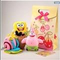 The original authorization 3pc/lot Sponge bob squarepants/Patrick Star/Gary animation plush toys creative valentine's day gift