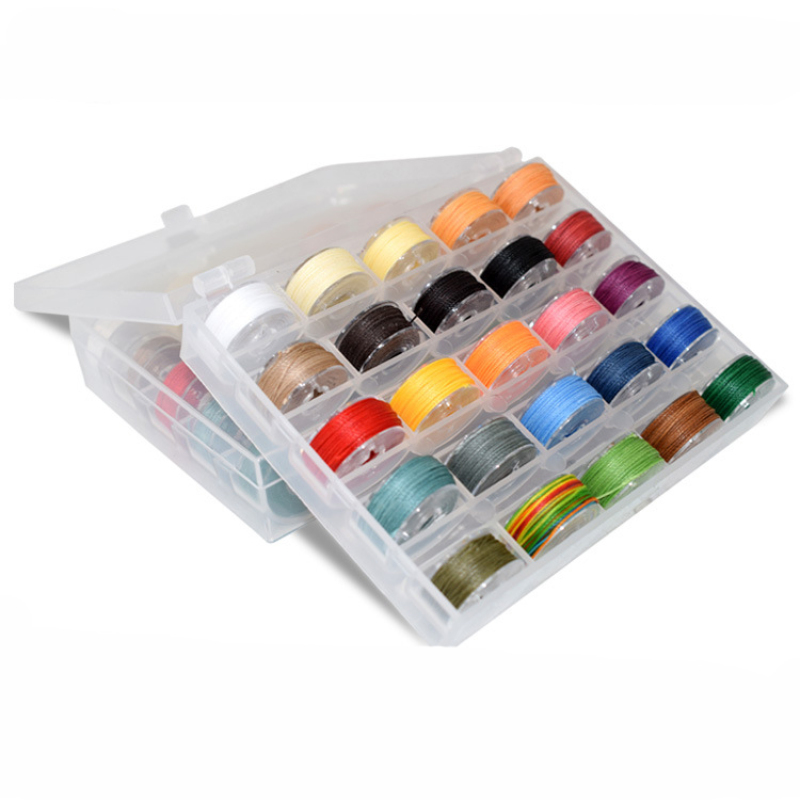 1Box Waxed Polyester Cord Mixed 25 Colors Jewelry Findings for Jewelry Making DIY 0.45mm 0.55mm 0.65mm