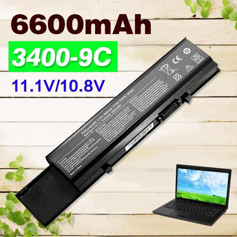 6600 mah Batterie Pour dell Vostro 3400 3500 3700 04GN0G 0TY3P4 4JK6R 7FJ92 CYDWV Y5XF9