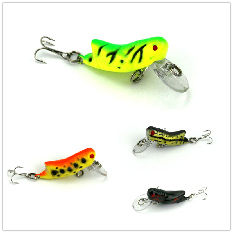 7 pcs insect lure plastic hard bait cricket artifician for Fishing with crickets