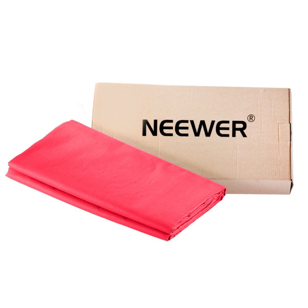 Neewer6x9ft/1.8x2.8M Photo Studio 100% Pure Muslin Collapsible Backdrop Background for Photography,Video and Television Red