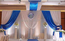 10ft*20ft Mediterranean Wedding Backdrop for Wedding Decoration Wedding Drape and Curtain with Detachable Swag