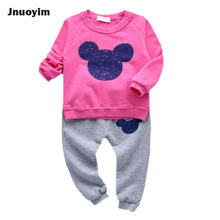 Cute Cartoon 2017 Spring Autumn Children Clothing Sets Long Sleeve Hoodie & Pants 2 Pieces Sets Baby Infant Toddler Kids Clothes