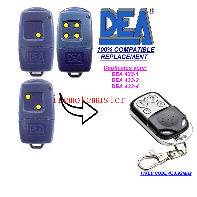 цены For DEA 433-1,433-2,433-4 garage door remote replacement