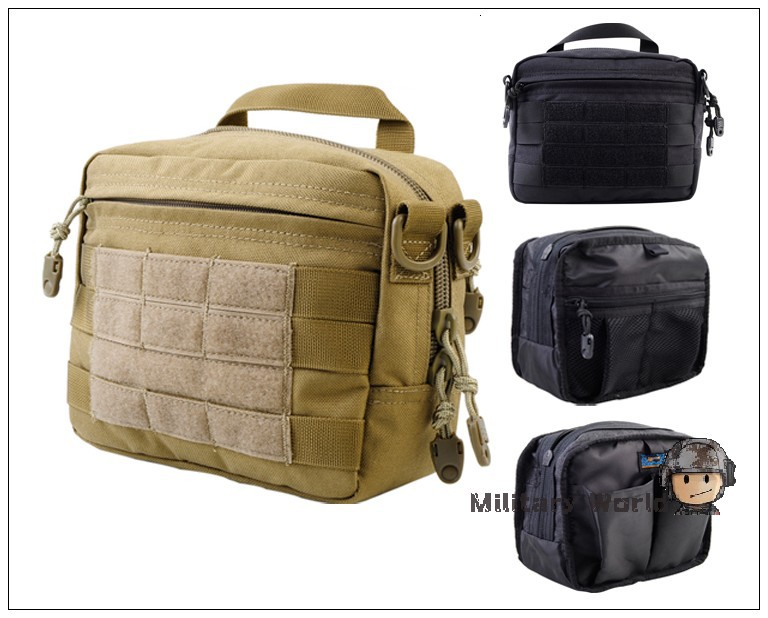 Calderagear 1000d Molle Outdoor Sports Men Utility Handbag Dump Pouch Accessory Tool Tactical Military Bag Case Black In Pouches From