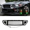 Автомобильный гоночный передний бампер сетка решетка изменить белый красный зеленый светодиодный светильник лампа грили для Ford Mustang 2015 2016 ...