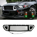 Auto Racing Bumper Grille Wijzigen Wit Rood Groen LED Light Lamp Grills voor Ford Mustang 2015 2016 2017 auto Styling
