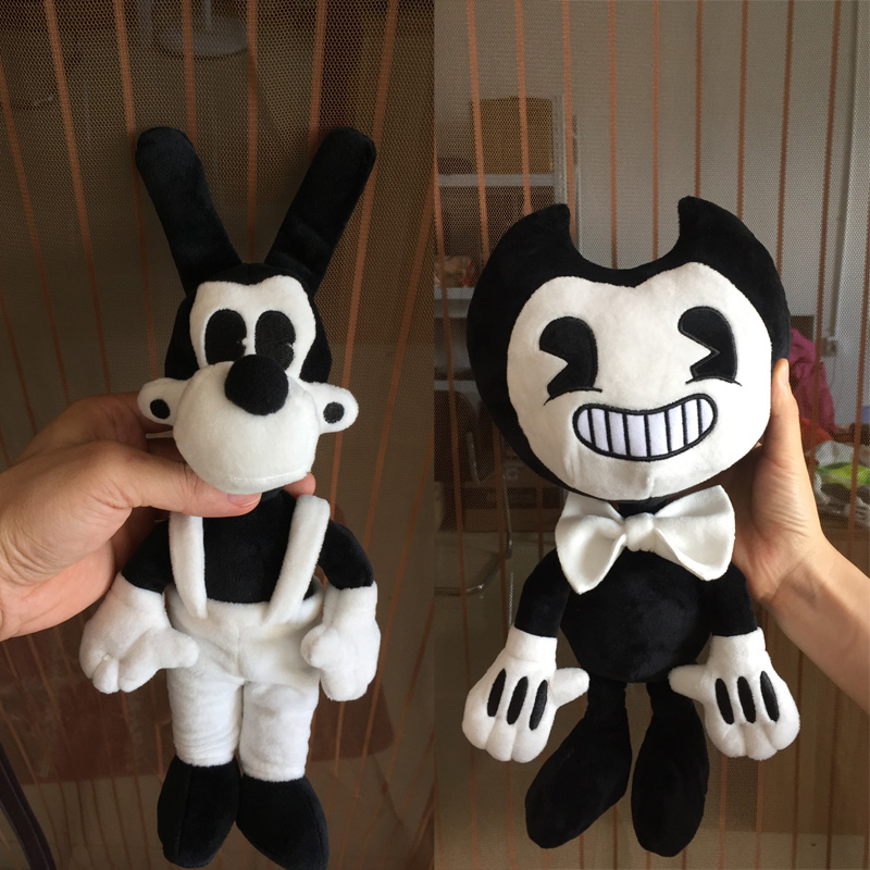 Large Size Bendy and the ink machine Bendy and Boris Toy Figure Plush Doll 35 cm