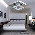 Square LED Crystal Light Chandelier Lighting for Aisle Porch Hallway Stairs with LED Light Bulb 12 Watt 100% Guarantee