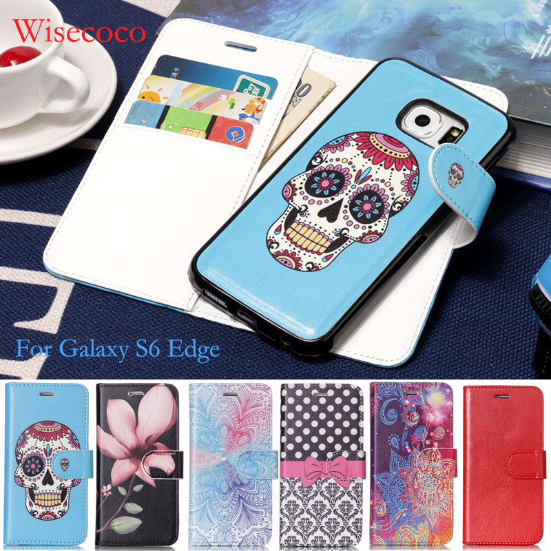 Coque для Samsung Galaxy S6 Edge кожаный бумажник флип чехол для S6edge магнит съемный силиконовый capinha крышка Fundas wisecoco