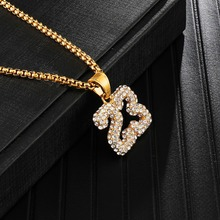 Full Iced Out Bling Stainless Steel Basketball 23 Pendants & Necklaces for Men HIP Hop Jewelry Dropshipping Gold Color