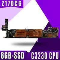 Z170cg tablet placa-mãe para asus zenpad c 7.0 z170c z170 teste original mainboard 8gb-ssd 1g ram atom c3230 cpu