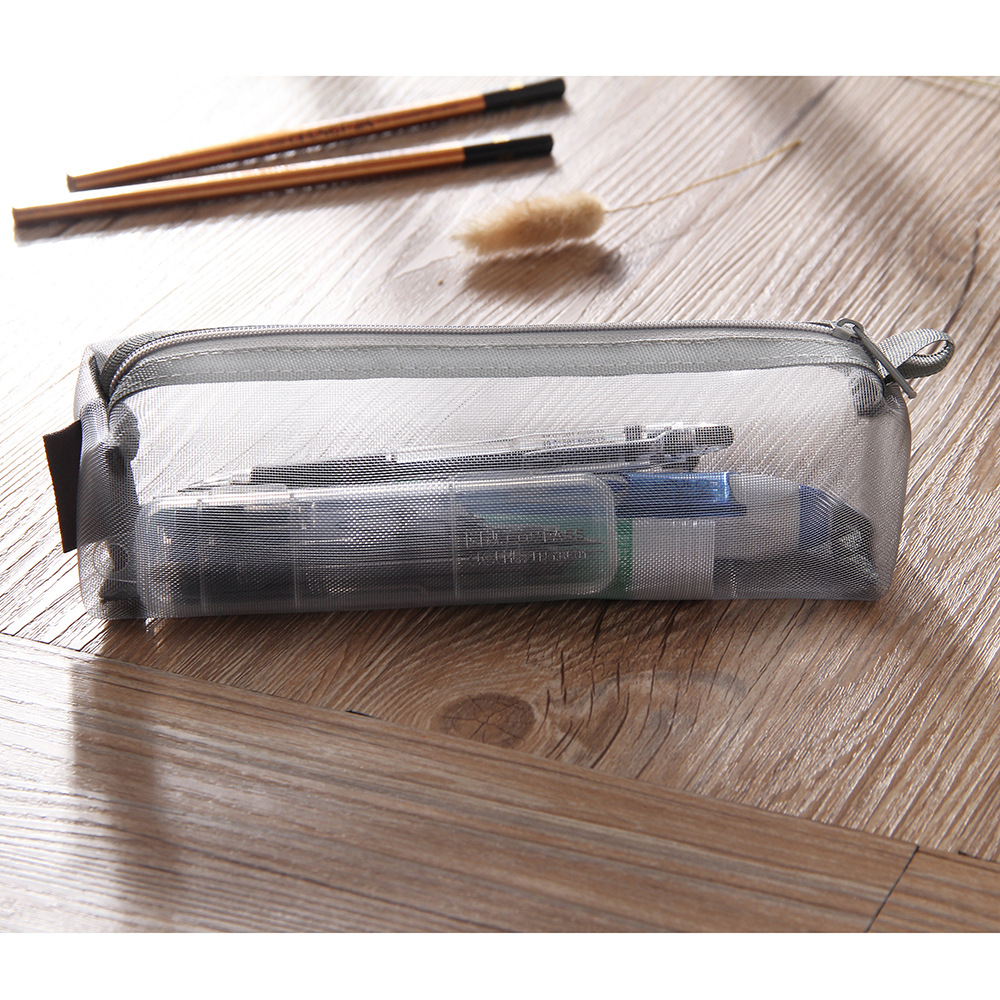 10pcs lot Square Stationery Bag Nylon Net Student Paper Bag Test Pen Bag in Pencil Cases from Office School Supplies