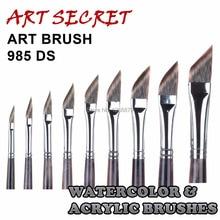 Высокое качество краски, кисти для художника акварель акрил художественные кисти 985ds для рисования mangoolon taklon волосы деревянной ручкой