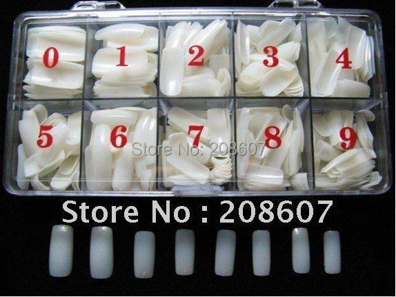 Free Shipping Wholesales Price 500Tips/set  Full Cover  Nail Art Gear  Fake Nail Tips