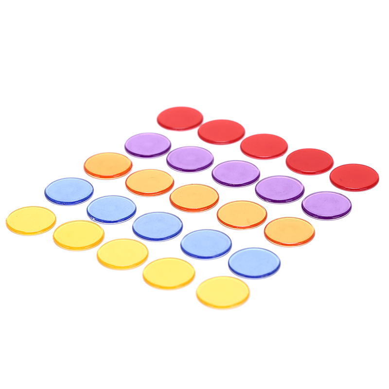Confident 100pcs 19mm Count Bingo Chips Markers For Bingo Game Cards Plastic For Classroom Children And Carnival Bingo Games Pure White And Translucent Gambling Entertainment