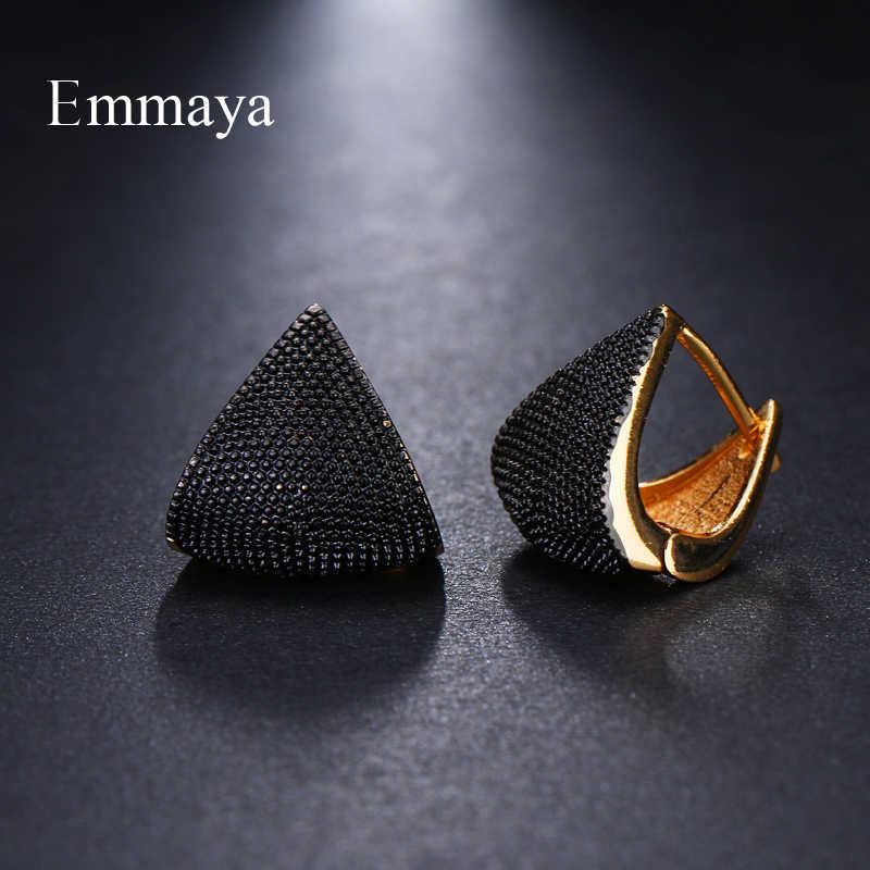 Emmaya ยี่ห้อแฟชั่นที่ไม่ซ้ำกัน Two Tone Originality เรขาคณิตเครื่องประดับต่างหูผู้หญิง Charm ของขวัญงานแต่งงาน