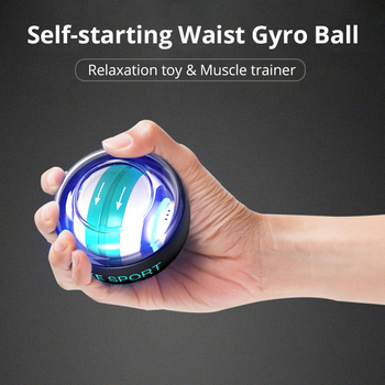Self-start Wrist Traing Ball with Counter Gyroscope Muscle Trainer with Light Gyro Arm Exerciser Strengthener Wrist Power Ball 2