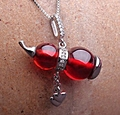 Happytime2015 new high-grade silver jewelry 925 sautoir garnet The gourd 925 silver pendant necklace fashion lady sautoir NS1506