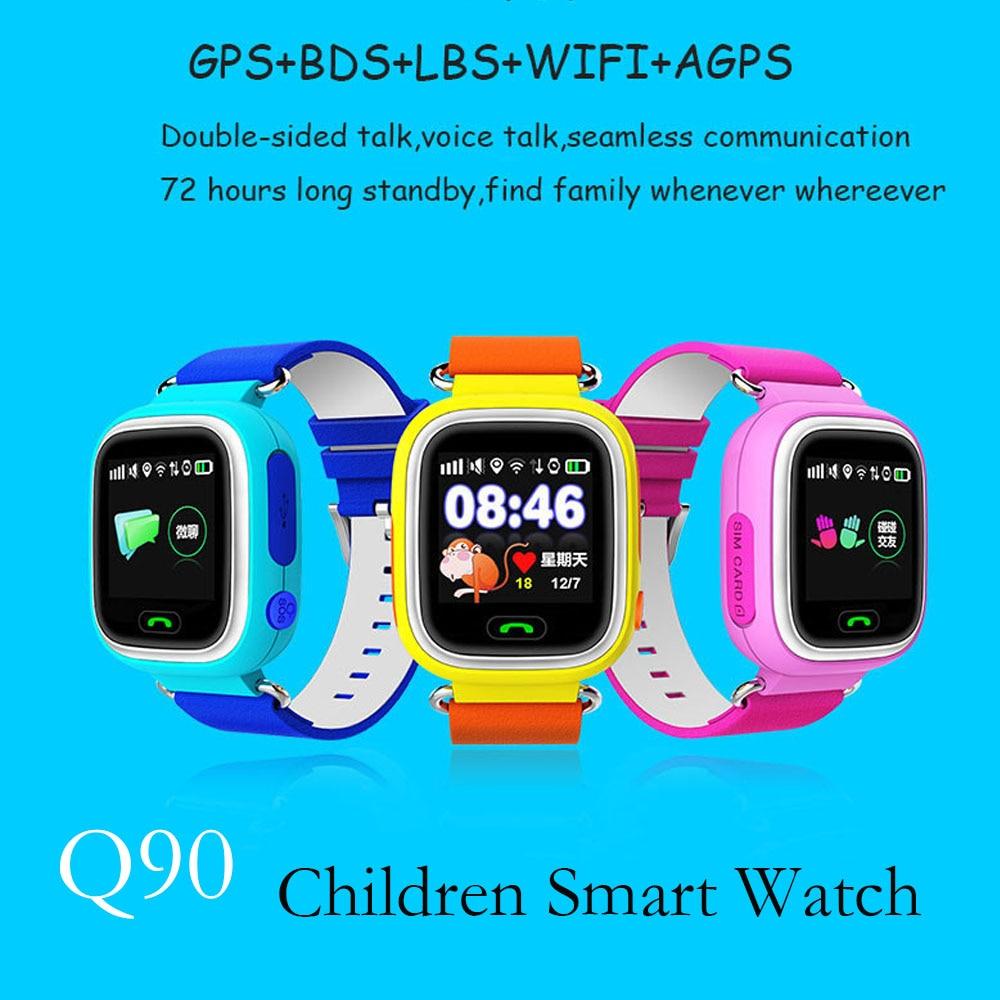 Q90 font b Smart b font font b Watch b font for kids SOS GPS APGS