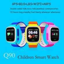 Q90 Smart Watch for kids SOS GPS APGS baby watch SIM card remote monitoring Call voice micro chat Alarm Clock pk q50 q80