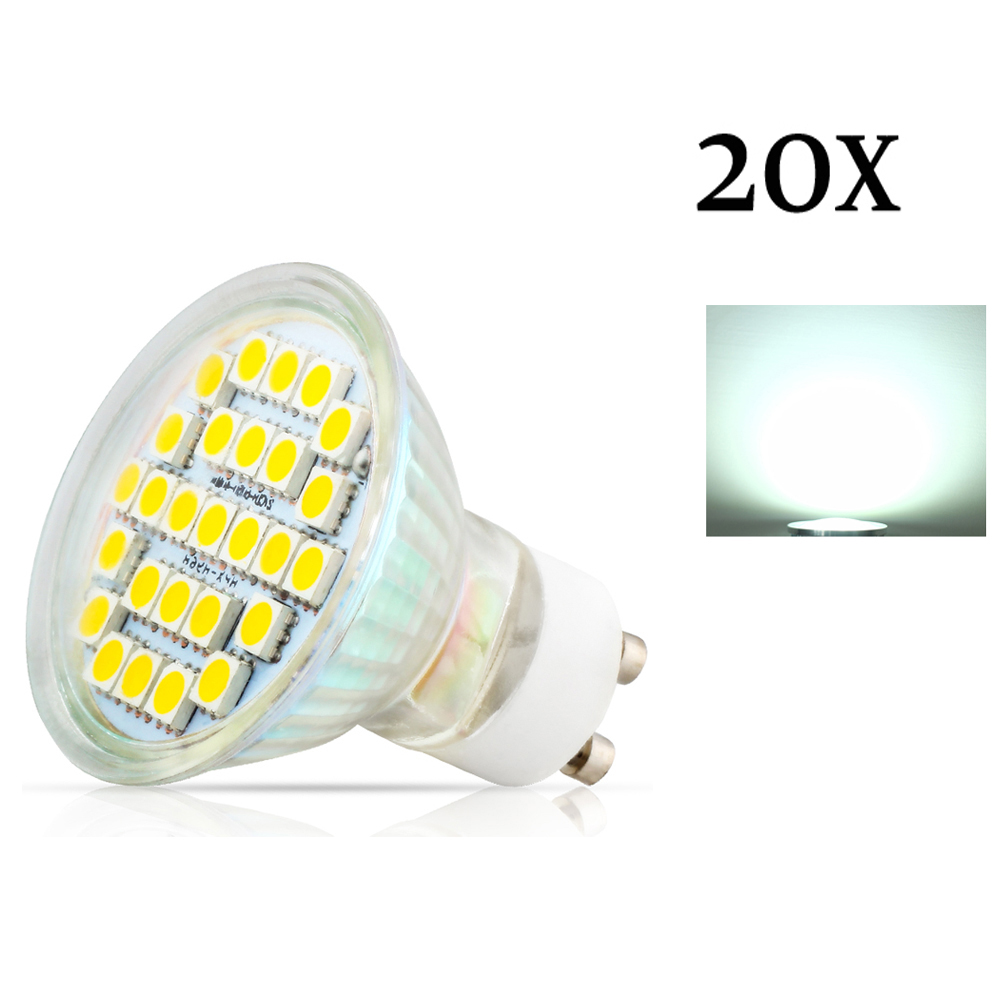 20X GU10 3.5W 27pcs 5050 SMD Led Spotlights Lamp AC220V 240V Warm White / Cool White Led Bulbs Light for home Lampada lamp