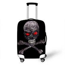 18-32 дюймов 3D винтажный Чехол для чемодана с черепом, защитная сумка, чехол для эластичных забавных багажных ярлыков в подарок