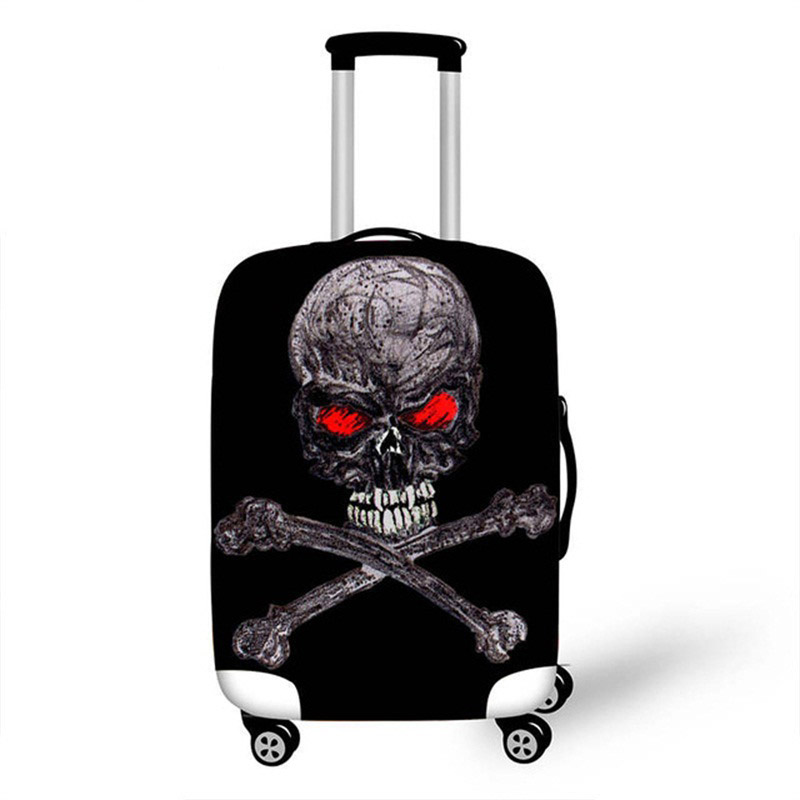 18-32 Inch 3D Vintage Skull Luggage Cover Suitcase Protective Bag Case Suit For Elastic Funny Luggage Tags Gift
