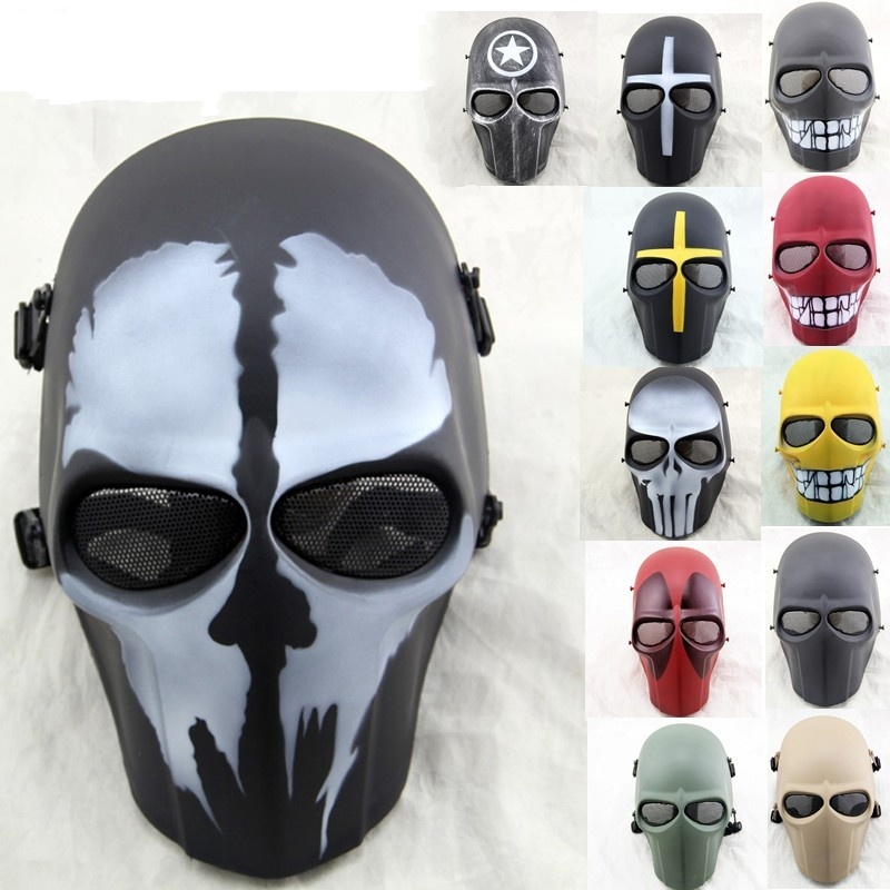 ZJZ-01 Army Of Two Military Airsoft Paintball Tactical Skull Full Face Protective Mask CS Wargame Hunting Halloween Party Mask
