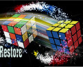 Flash Cube Restore FREE SHIPPING- Close Up Penetration Magic Tricks magia magie toys retail and wholesale