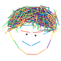 200 pcs diy blocos crianças brinquedo educativo precoce rainbow color palitos palitos de madeira bloco brinquedos