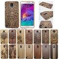 Luxo gfit 100% escultura de bambu madeira nota carcasa gravado case para samsung galaxy s4 mini s5 neo s6 borda mais s7 nota 5 4 3
