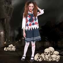 free shipping zombie school girl uniform vampire costumes cosplay halloween costume for adult carnival costumes for women