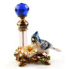 Купить с кэшбэком 4ml Vintage Metal Bird Glass Empty Perfume Bottle Container Decor Ladies Gift