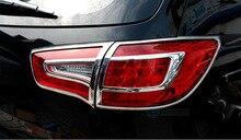 Para 2010 2011 2012 Kia Sportage R ABS Tail Chrome Rear Light Lamp Ajuste de La Cubierta