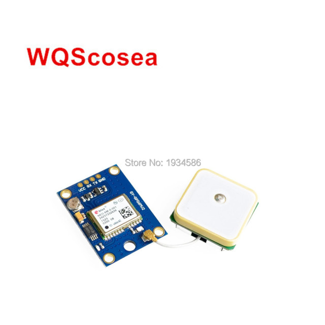 US $97 38 |10PCS NEO6MV2 GPS Module with EEPROM Aircraft Flight Controller  MWC APM2 5 Antenna For Arduino Ublox NEO6M NEO 6M Flight Control-in
