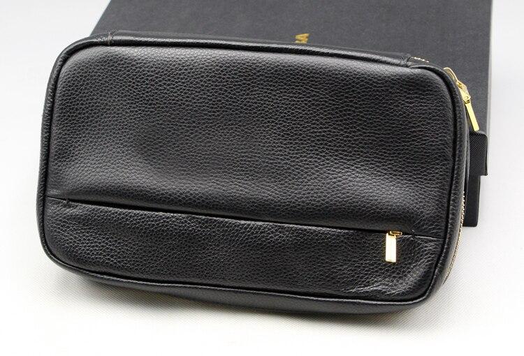 Cohiba Cedar Wood 4 Tube Travel Cigar Case Humidor Holder Black Portable Leather-in Cigar Accessories from Home & Garden    1