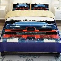 Высокое качество 3d Постельных Принадлежностей 4 ШТ. автомобиль Печати королева размер одеяла Постельные принадлежности Пододеяльник Прост