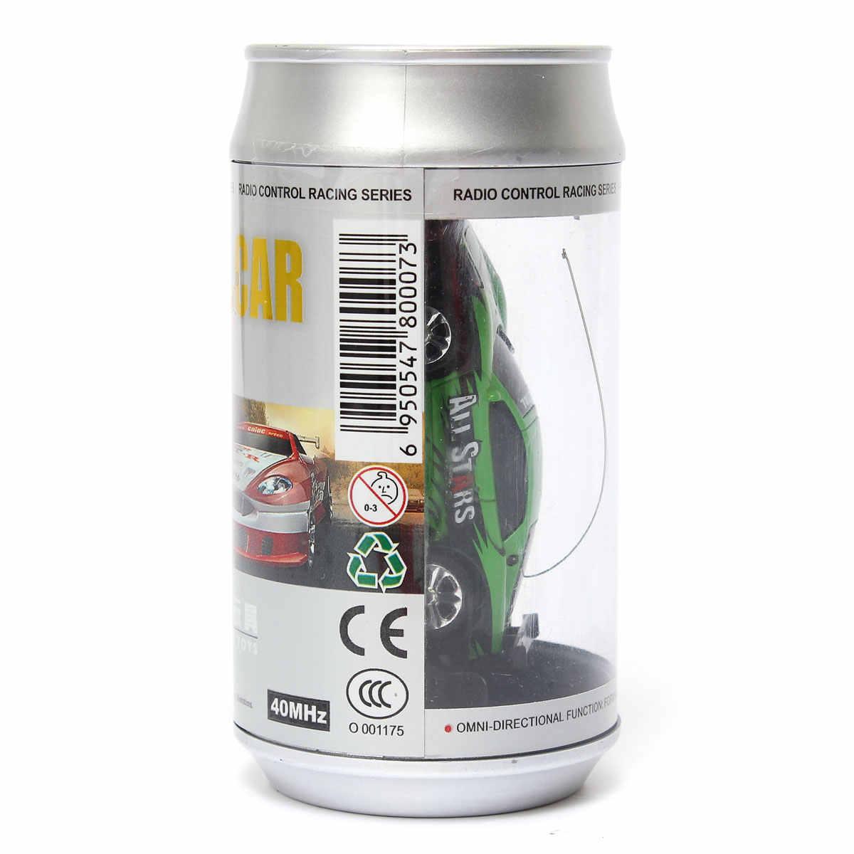 Venta caliente 8 colores Coke Can Mini RC vehículo Radio Control remoto Micro coche de carreras 4 frecuencias para niños regalos, regalos