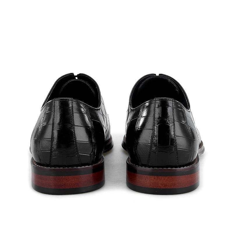 Desai Bezerro Flats Homens coffee Pé Relevo Medida Sob Crocodilo Do Couro Quadrado Oxford Sapatos Brown Em Laçar Black Handmade Genuíno Dedo De 100 Sapato rx8rnq7RwB