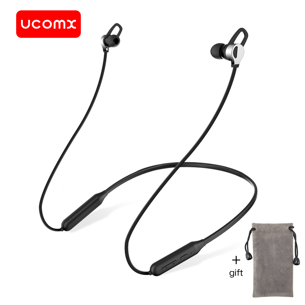UCOMX G03S Bluetooth Earphone Sports Wireless Headphones Stereo Magnetic Bluetooth Headset with Microphone for iPhone Samsung Mi zealot b5 bluetooth headphone wireless stereo earphone bluetooth 4 1 headphones headset with microphone for iphone for samsung