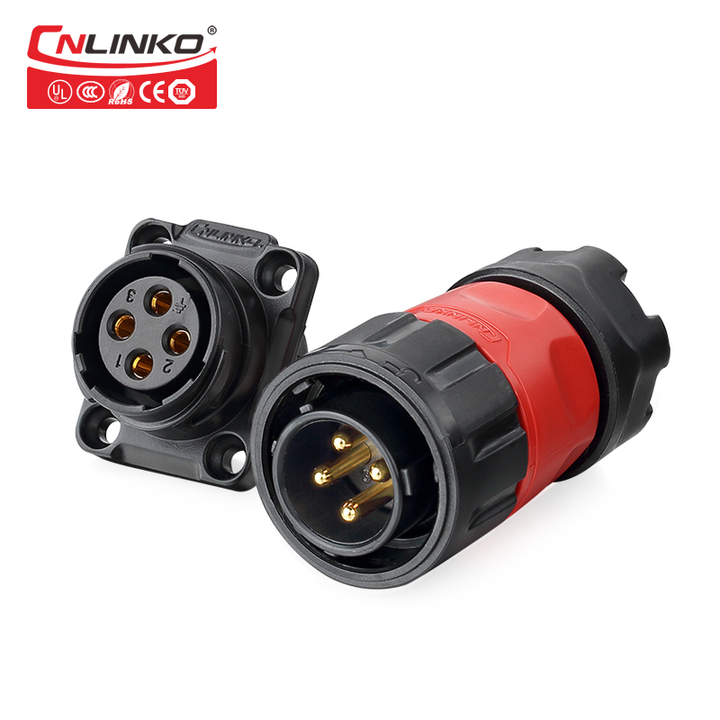 4 PIN Russian Connector Cable,12v Waterproof Connector IP67 Electronic Wire to Board Plastic Male Plug Female Panel Mount Socket