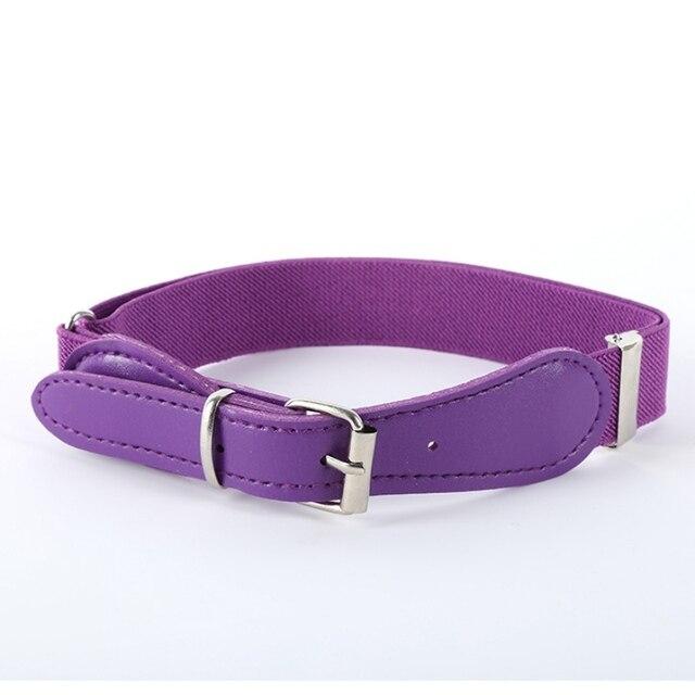 Colorful Elastic Waist Polyester Belt for Kids 3