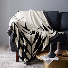 цена Nordic Cotton Multi-function Blanket Simple Double-sided Nap Blanket Sofa Blanket  Double Line Blanket онлайн в 2017 году